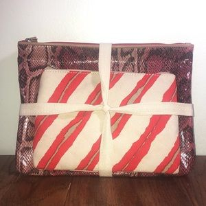 New Loft Cosmetic Bag Set Of Two